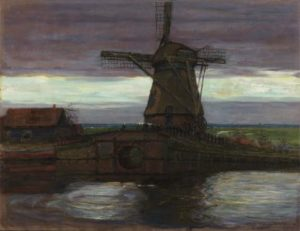 Mill with Streaked Sky by Piet Mondrian
