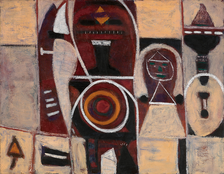 Adolph Gottlieb, American (1903-1974). <em>Pink and Indian Red</em>, 1946.