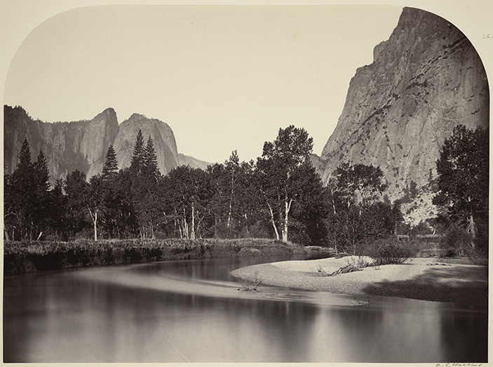 Carleton E. Watkins, American (1829-1916). <em>View from Camp Grove, Yosemite</em>, 1861.