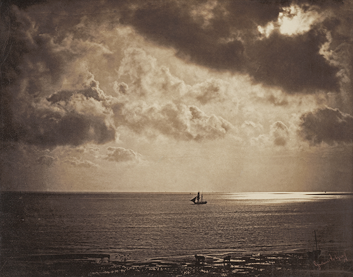 Gustave Le Gray, French (1820-1884). <em>Brig upon the Water</em>, 1856.
