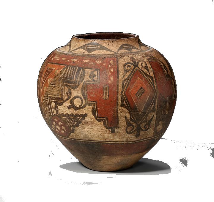 <em>Jar</em>, Santa Ana Polychrome, Santa Ana, New Mexico, ca. 1820.