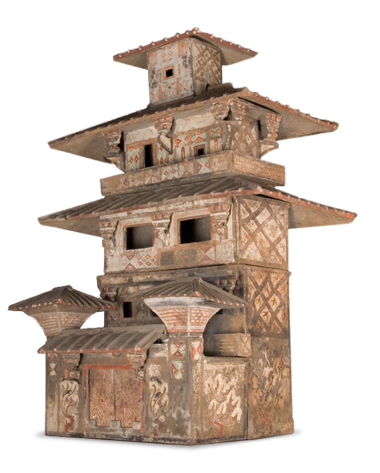 <em>Model of a Multi-Storied Tower</em>, Chinese, Eastern Han Dynasty (206 B.C.E.–220 C.E.), 1st century C.E.