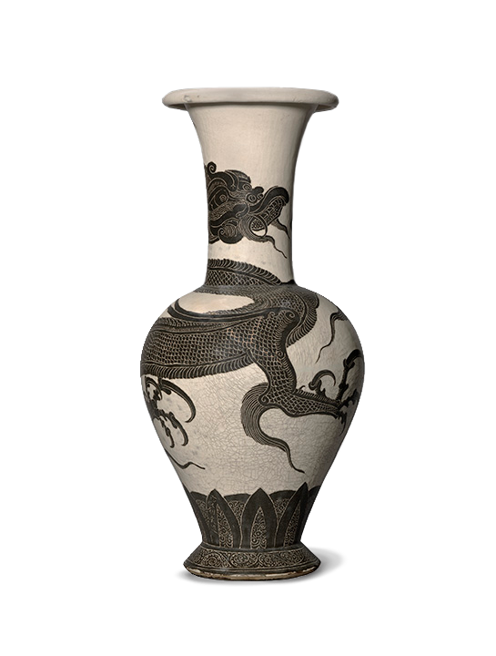 <em>Flower Vase with Dragon Motif</em>, Chinese, Northern Song Dynasty (960-1127).