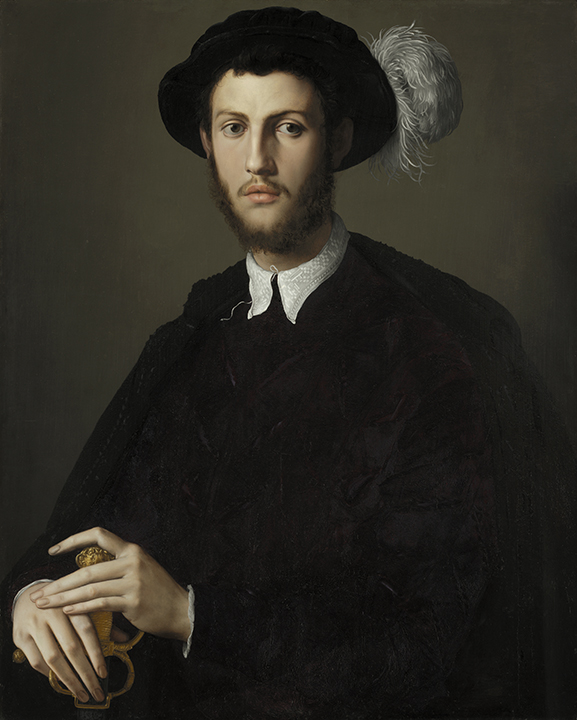 Agnolo di Cosimo di Mariano, <em>Portrait of a Young Man</em>, 1550/1555.