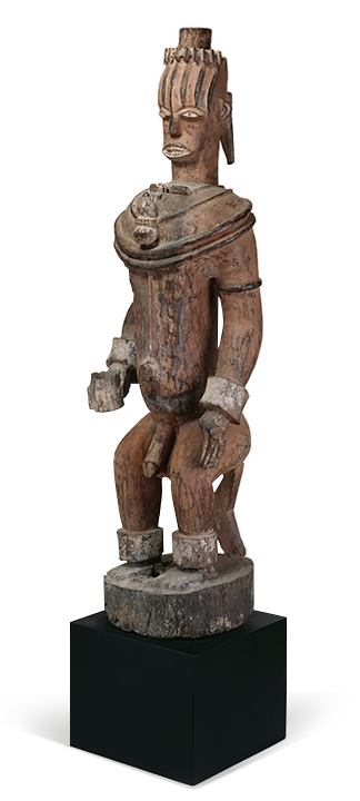 <em>Male Shrine Figure</em>, Nigeria, early 20th century.