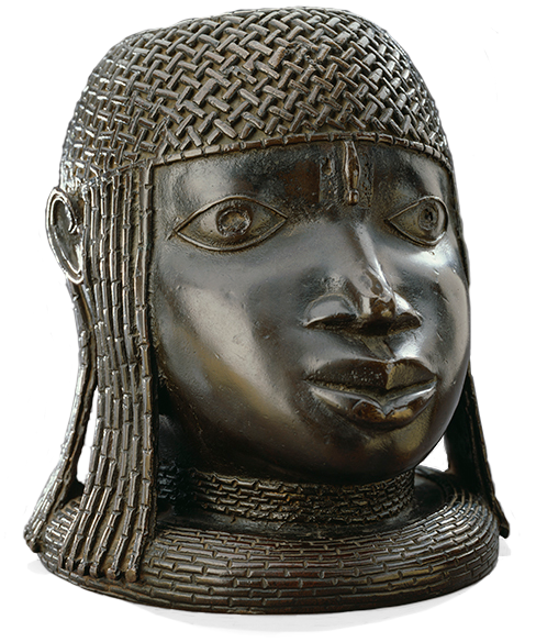 <em>Commemorative Head of an Oba</em>, Nigeria, 16th century.