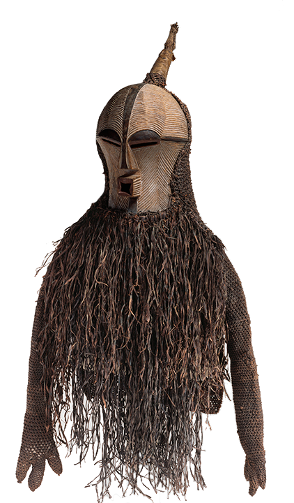 <em>Mask of the Bwadi bwa Kifwebe Society</em>, Democratic Republic of Congo, late 19th century.