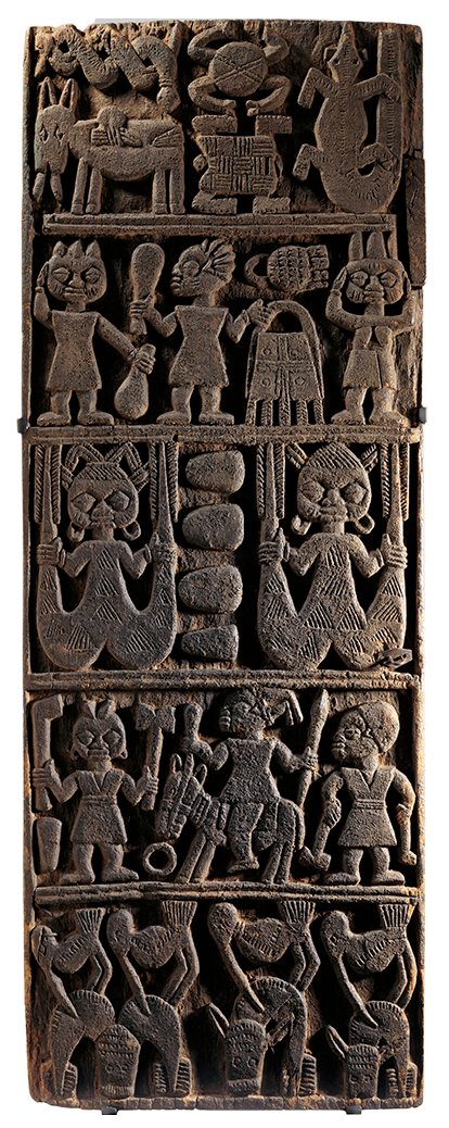 <em>Door from Shrine for Deity Shango</em>, Nigeria, 19th century.