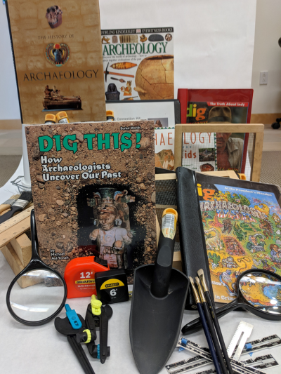 Materials for archeology kit