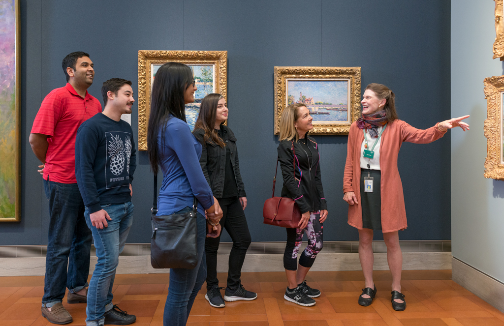People on a gallery tour
