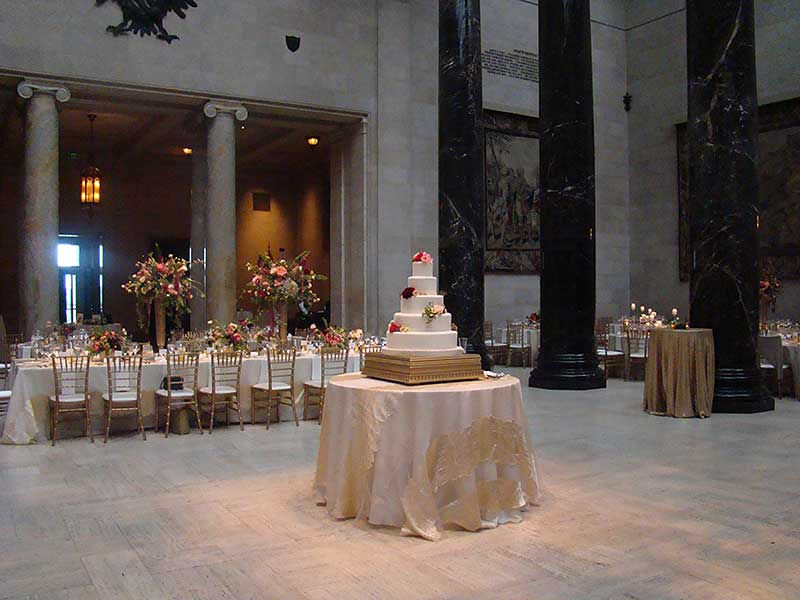 Wedding reception in Kirkwood Hall