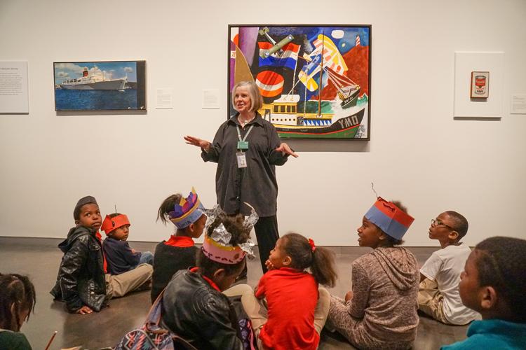School tour in gallery