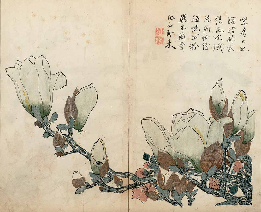The Mustard Seed Garden Painting Manual, Part 3, Vol. 4: Birds, Flowers, and Fruits by Wang Gai