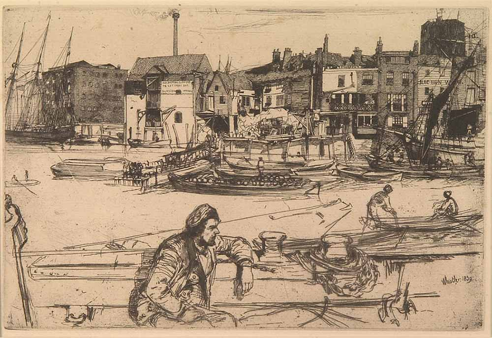 Black Lion Wharf by James Abbott McNeill Whistler