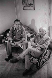 David Douglas Duncan with Pablo Picasso by Gjon Mili