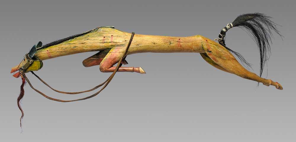 Horse Effigy by Joseph No Two Horns (He Nupa Wanica)