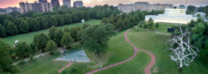 Arial view of Sculpture Park