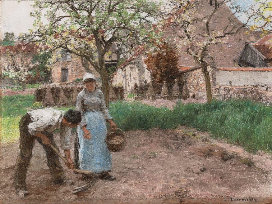 Potato Planting in the Spring by Léon-Augustin Lhermitte