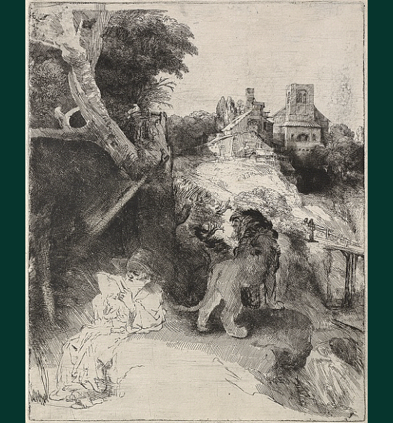 St. Jerome Reading, Rembrandt