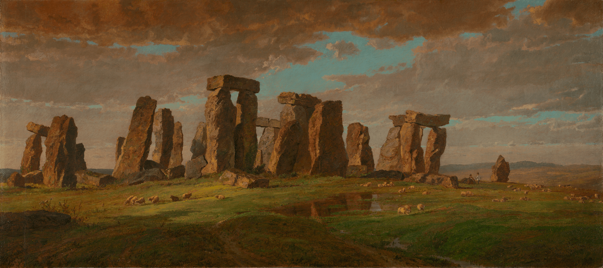 <em?Stonehenge</em>, Jasper Francis Cropsey