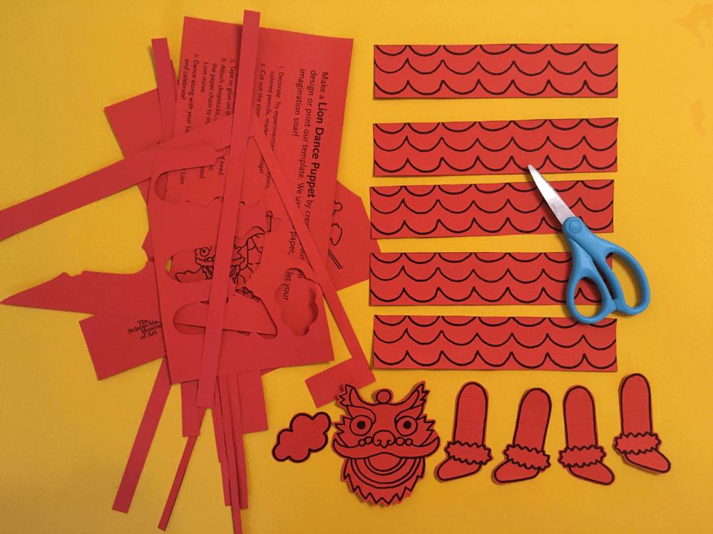 step 1 cut out your lion