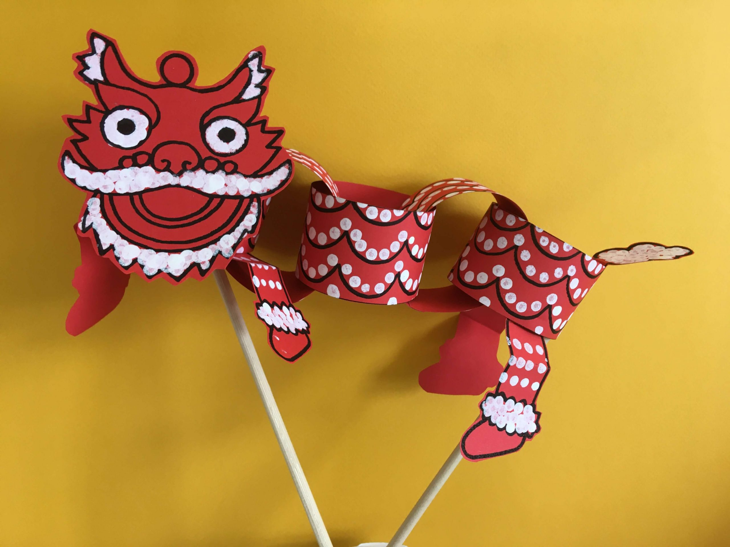 Lion Dance Puppet
