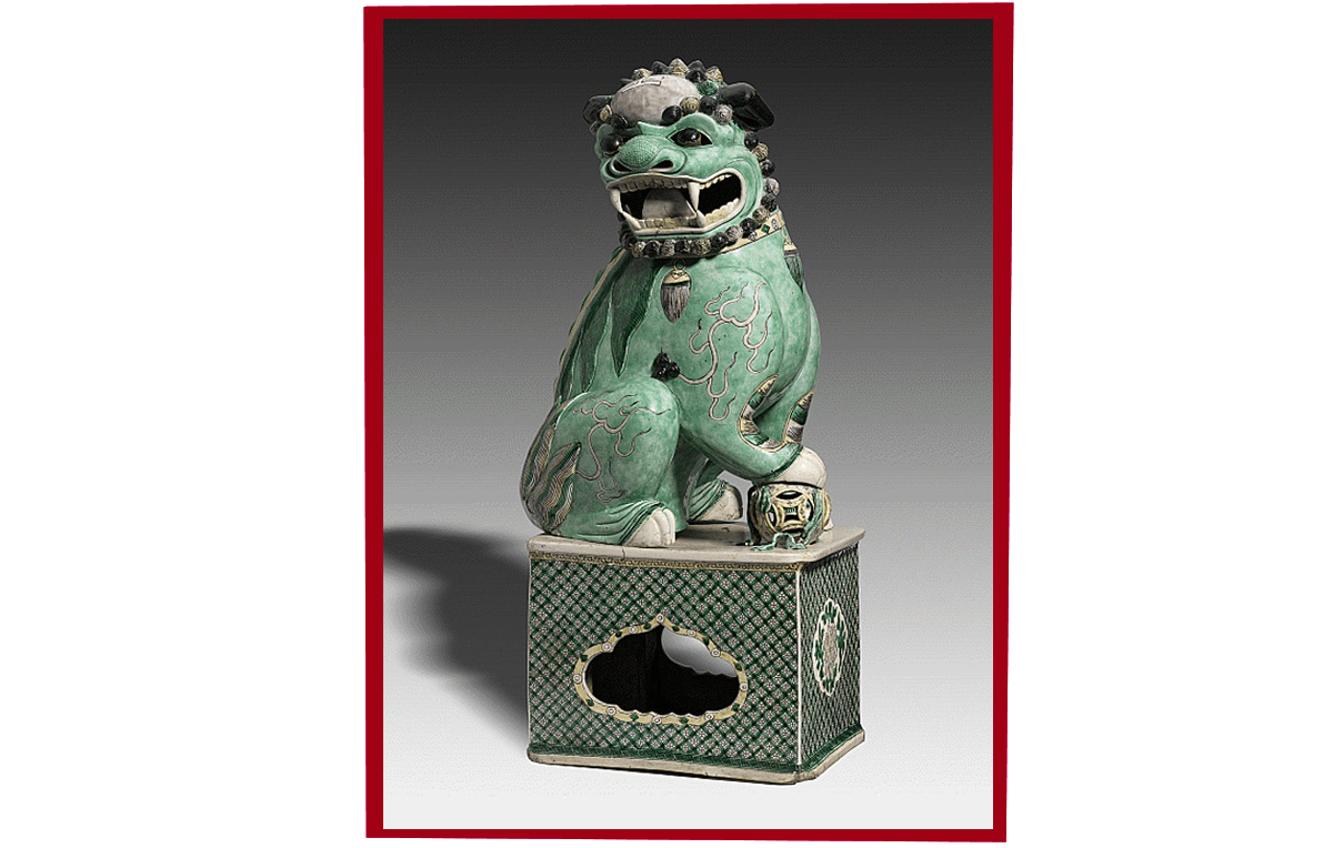 Male Lion: on display in the Nelson-Atkins Museum of Art