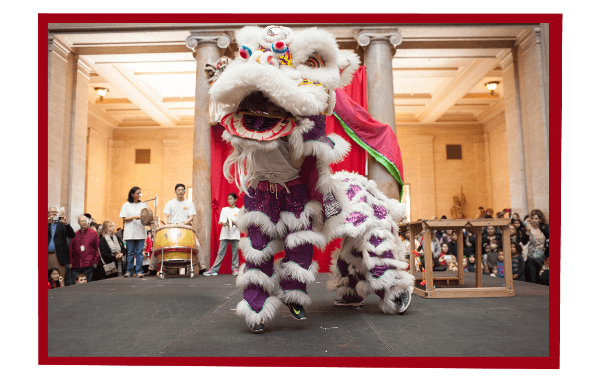 Lion Dancers at the 2019 Chinese New Year Celebration