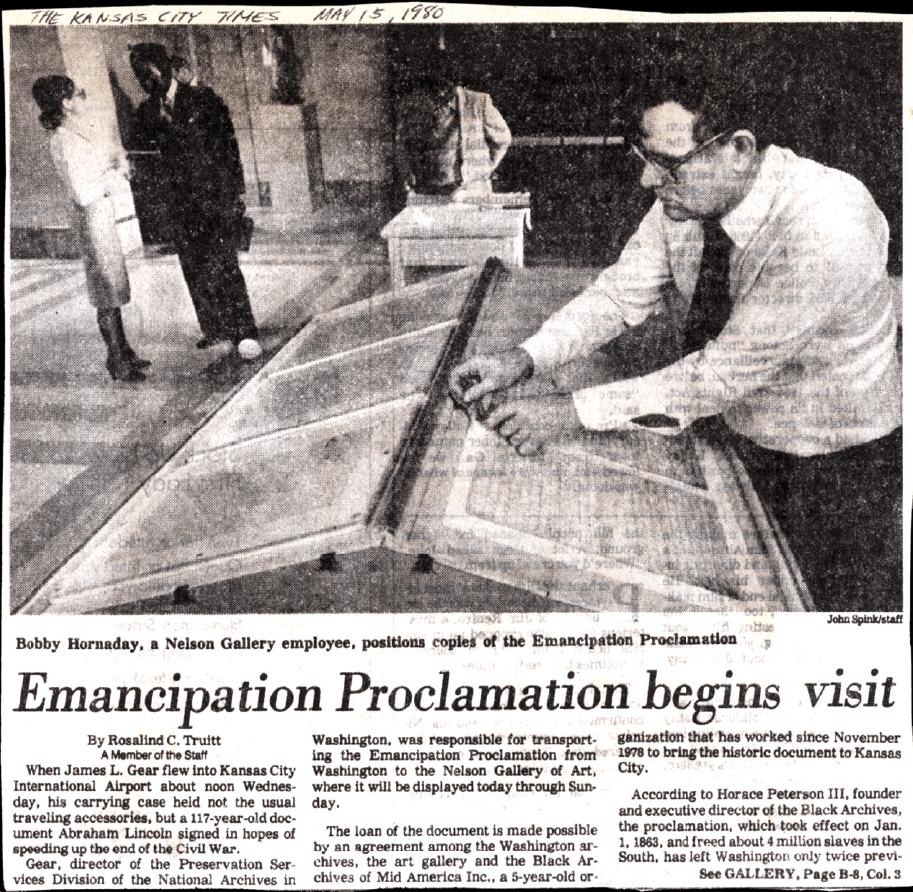 Emancipation Proclamation begins visit