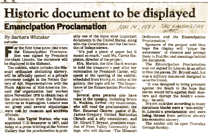 Historic document to be displayed